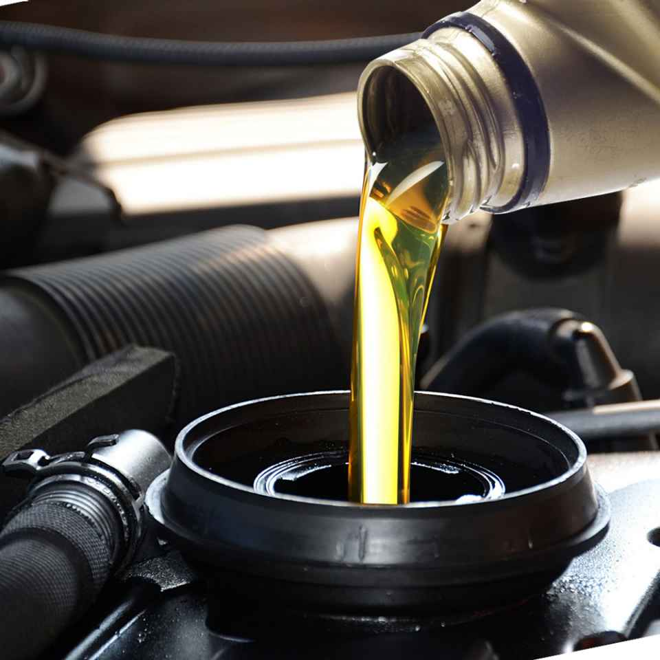 Checking oil in car before long journey